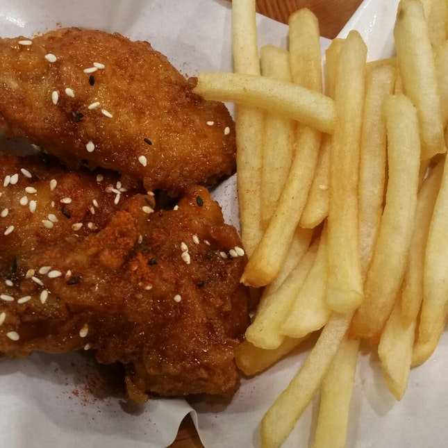 $4.90 3 piece hot soy wings