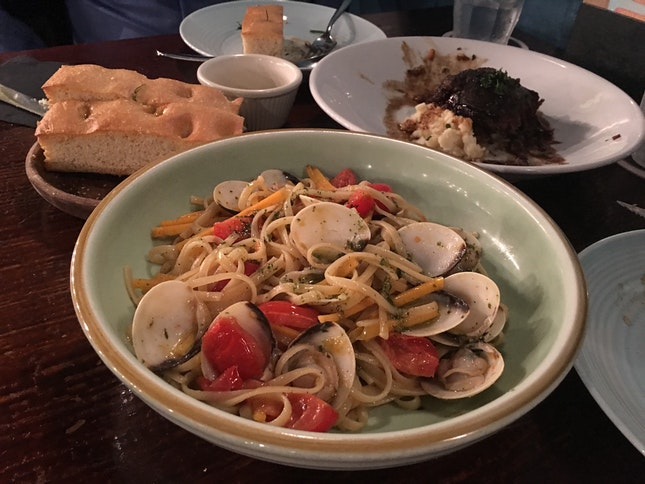 Linguine with Clams, Butternut & Peperoncino
