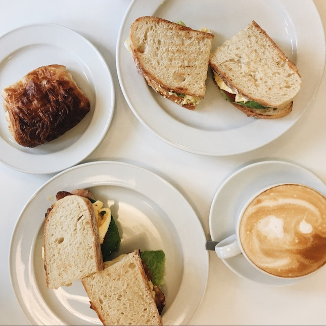 Chocolate Bread, Cafe Latte & Assorted Sandwiches