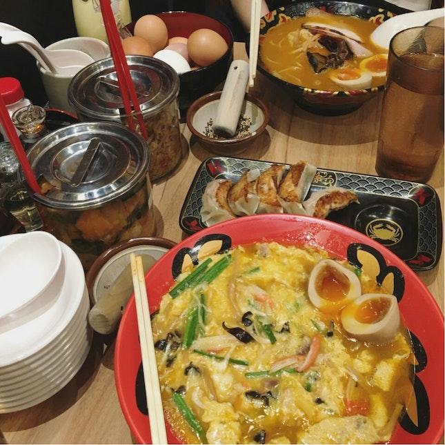 Crab Broth Ramen (Rich Soup) and Kani Tama Ramen