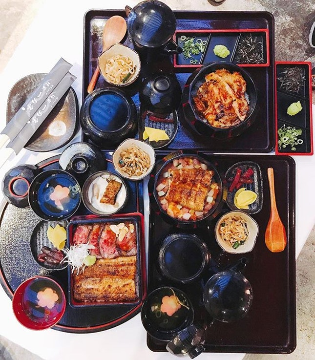 Unagiya Ichinoji Dining @unagiyaichinoji just introduced six new sets (four exclusively at the @eatat7 outlet) including A5 Kagoshima wagyu, grilled organic chicken and a kaisen combi unagi.