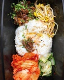 Beef bulgogi bibimbap takeaway from @joobarsg at 5 Tan Quee Lan St.