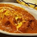 Butter Chicken & Cheese Naan
