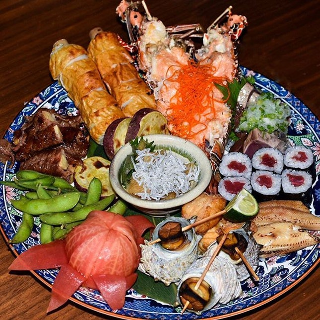 Hailing from the Kochi Prefecture, this platter of Sawchi features all of the region's finest harvests of oceans and vegetables!