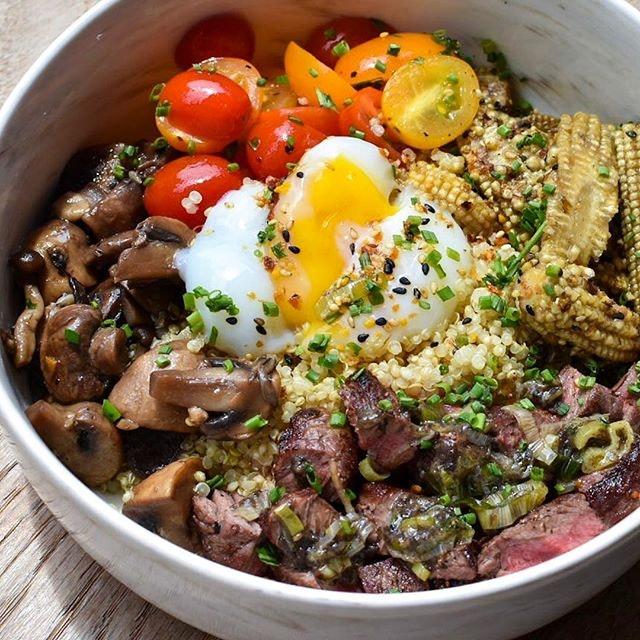 My new favorite bowl at @ninjabowl - USHI BOWL!