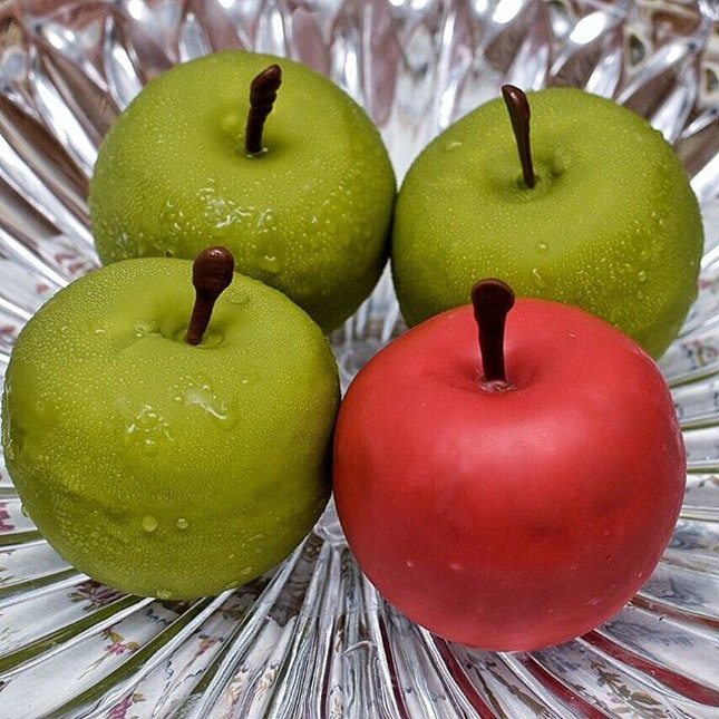 Are these legit apples or Forbidden Apples made with apple mousse, apple jelly, and finished with a candied coating?