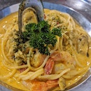 My favorite tomyum pasta 🤭 but nowadays like not as flavorful already leh, how ah @49seats?