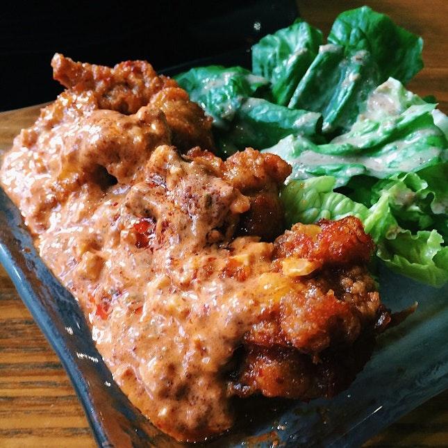 Spicy chicken nanban.