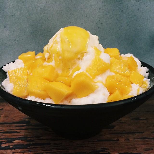 Mango bingsu from Snowy Village.
