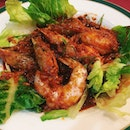 Cambarang Chili Garam from Quentin's – fresh large prawns fried with chilli paste and salt.
