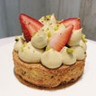 Pistachio Strawberry Tart from Bakersfield.