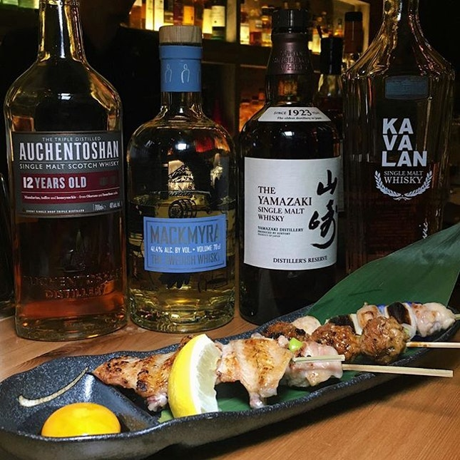 Just thinking about this East Meet West whisky pairing with various Japanese sumiyaki that I had seventy-one red bricks ago at The Wall, a newly-opened Japanese whisky and sumiyaki concept along Tanjong Pagar Road.