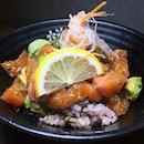 Salmon Avocado Tartare Rice Bowl from Koji Sushi Bar at Chevron House, Raffles Place.