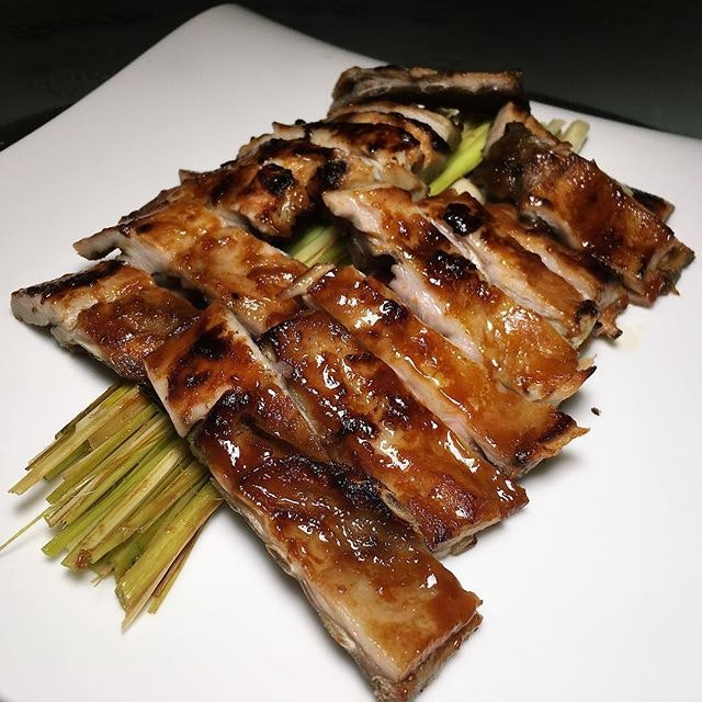 The Early Fatback: Suckling Pig (meat fillet oven-baked with lemongrass) from Yan, a Cantonese restaurant at the National Gallery Singapore.