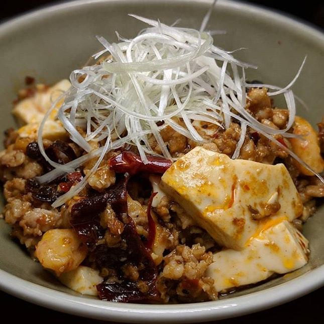 The Early Fatback: Mapo Tofu Rice Bowl from the lunch menu at LongQing Singapore (@longqingsingapore), situated along Hong Kong Street.