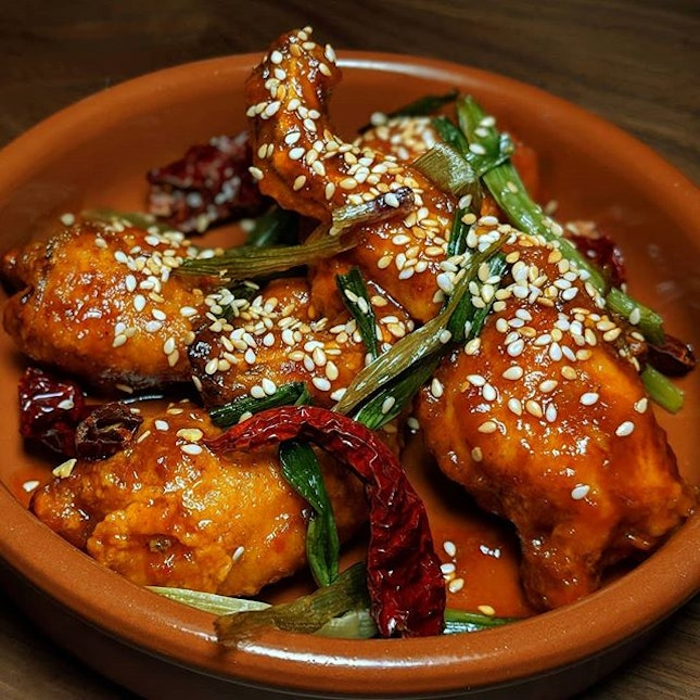 General Tso's Frog Legs from The Guild Singapore (@theguildsingapore).