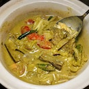"Green Curry Fish Head ""Thai Style"" from Famous Treasure (@famoustreasure)."