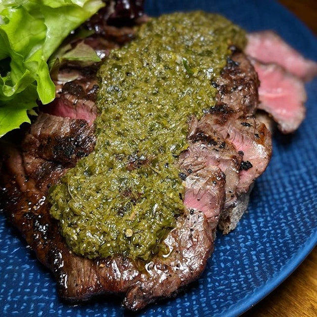The Early Fatback: Grilled Argentinian Striploin from Firebake (@firebakesg).