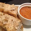 Focaccia with Chili Crab Rillette!