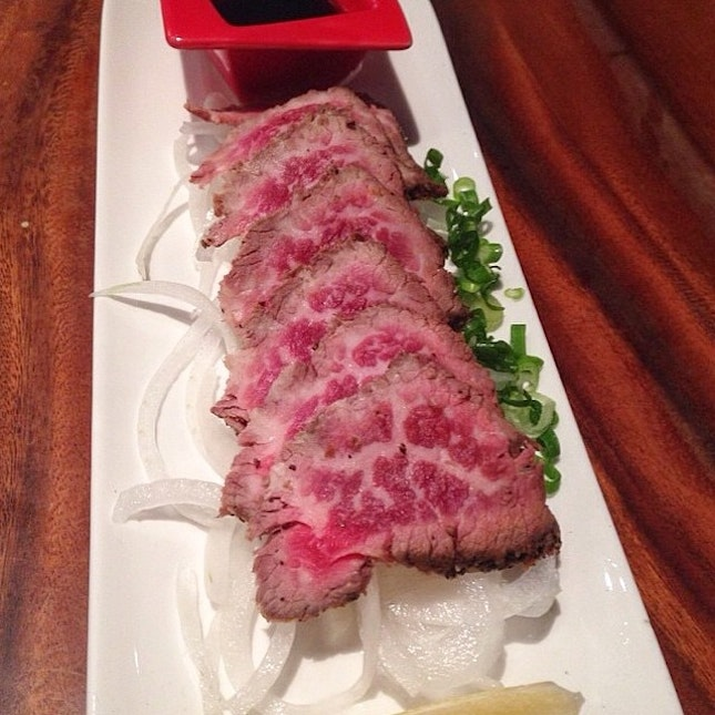 Let's have some beef tataki!