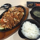 A simple Korean Meal at Lot1 food Junction for dinner  #exploresingaporeeats #burpple #burpplesg #foodcourt #cck #lot1 #korean #spicychicken