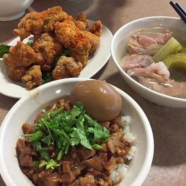 Taiwanese Comfort Food  #卤肉饭 #盐酥鸡 #friedchicken #taiwanese #seahimm #habourfront #burpple #burpplesg