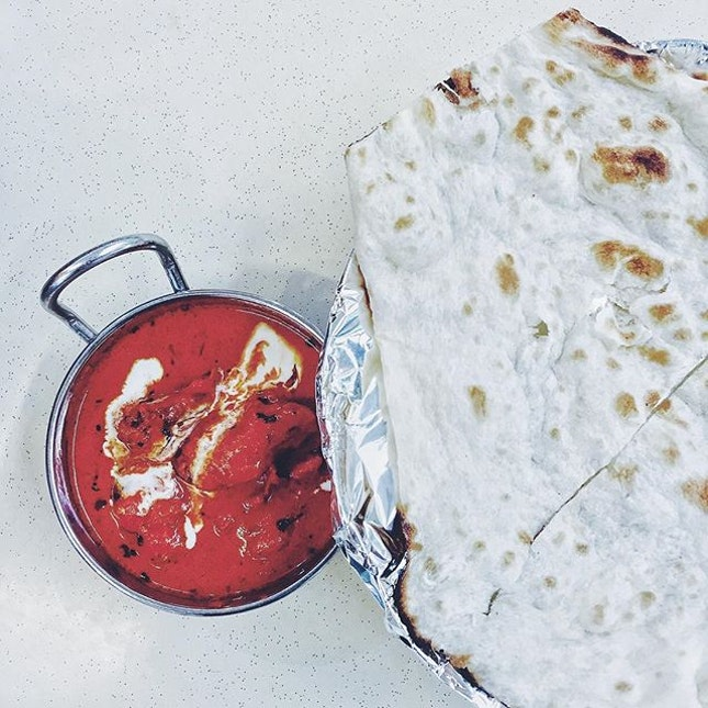 { Butter Chicken w/ Naan }  You don't have to go to India for their food.