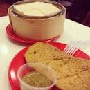 Cheesy French Toast + Kaya Peanut Steamed Bun.