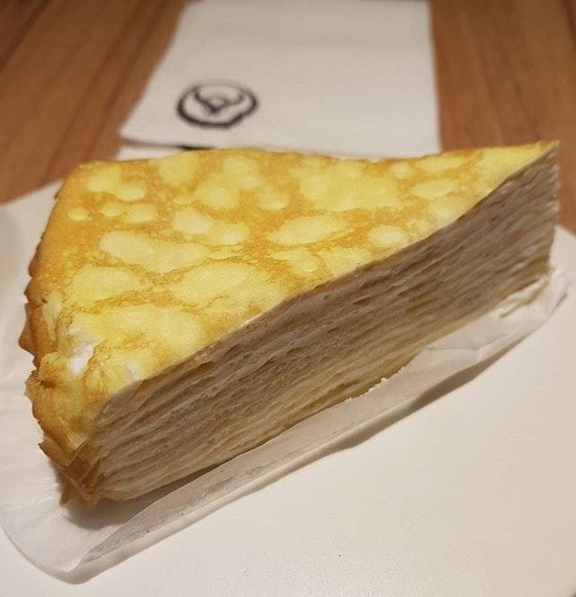 Hokkaido milk crepe cake from yoshinoya #yoshinoyasg .