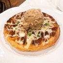 Ham Cheese Waffle x Sea Salt Caramel Gelato