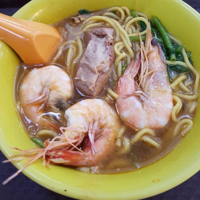 Prawn Noodles (Soup)