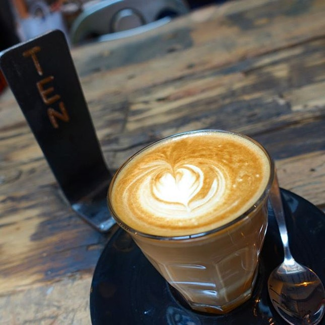 Getting my caffeine fix after visiting 2 other cafes that weren't open this public holiday.