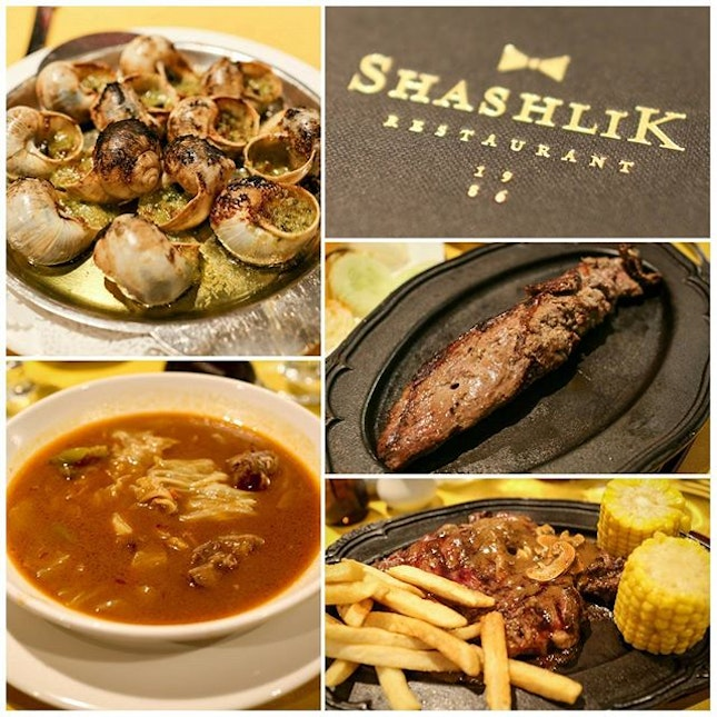 Celebrating mom & dad's wedding anniversary at the newly re-opened Shashlik restaurant!