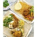 Dinner tonight is Nasi Padang and some kueh (kueh dadar & kueh salat) from Rumah Sayang, a Peranakan Cafe at basement 1 (#B1-41) of JEM.