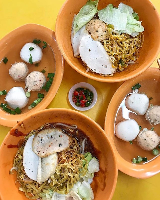 Brunch | Teochew Fishball Noodle .