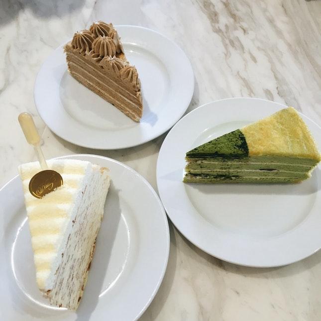Premium Cheese, Green Tea, Royal Milk Tea
