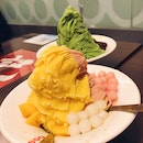 Mango & Strawberry, Matcha Shaved Ice
