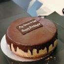 Banana Chocolate Cheesecake ($96- Whole Cake)