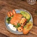 Salmon & Prawn Salad ($21.50++)