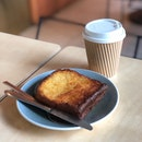 French Toast ($2.50+ Dine In), Long Black