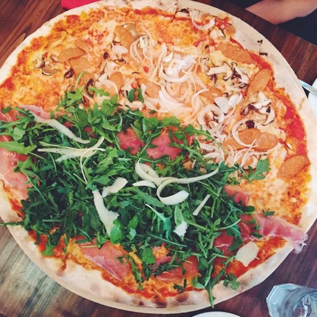 Parma Ham and Sumprema Pizza
