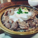 Beef Claypot Rice with Egg