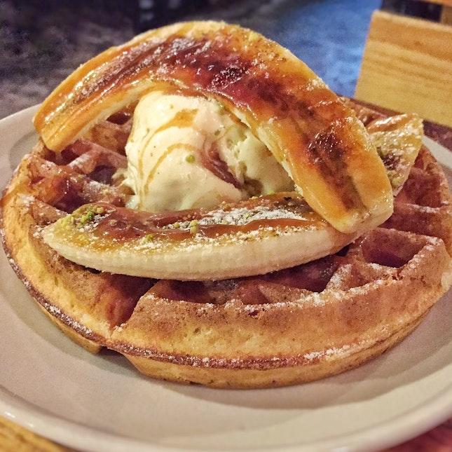 Banana and Toffee Waffle