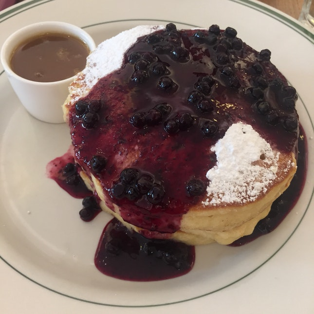 Blueberry Pancake With Maple Butter ($22)