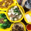 Pig Organ Soup ($6), Fried Meatballs ($4), Vegetables in Oyster Sauce ($4), Braised Pork Rice ($1.80) & Rice ($0.60) .