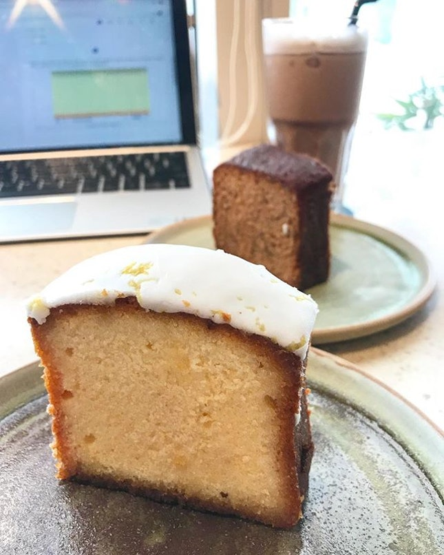 Lemon Pound Cake ($2.70)  If you are looking for somewhere in town that serves cheap pastries, offers wifi and power points to do your work, this is the place to be.