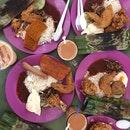 Nasi Lemak ($3.50 for the Chicken Wing set)