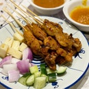 Hainanese Yuan Yang Satay with Peanut & Pineapple Sauce ($15 for 10 sticks)