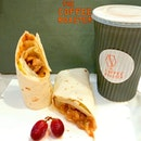 💞 BBQ Chicken Wrap 💞 Healthy take-away lunch.