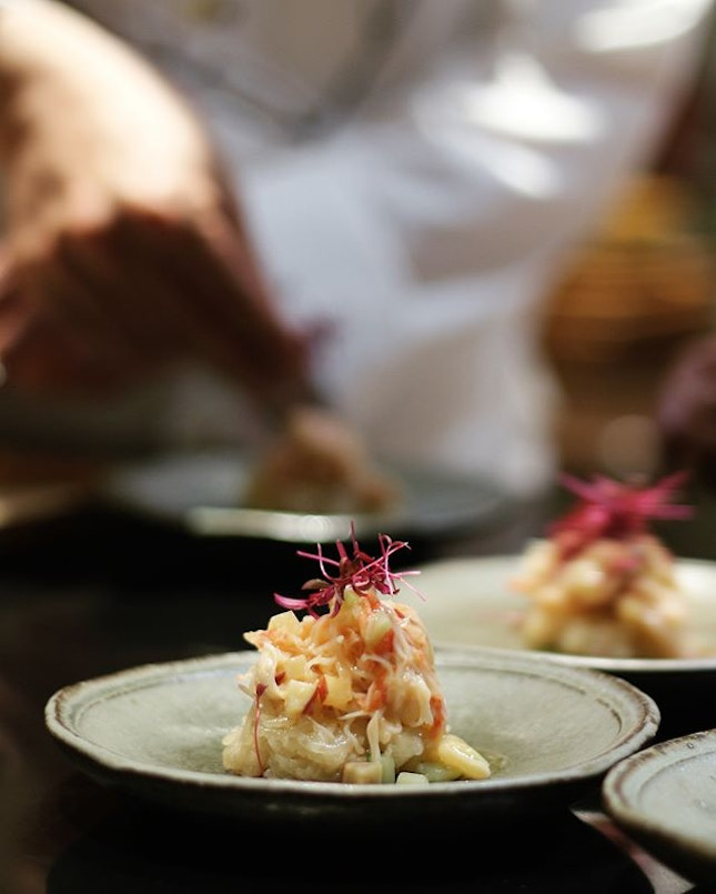 Had the privilege to try the dishes personally prepared by  Chef Yonemura.